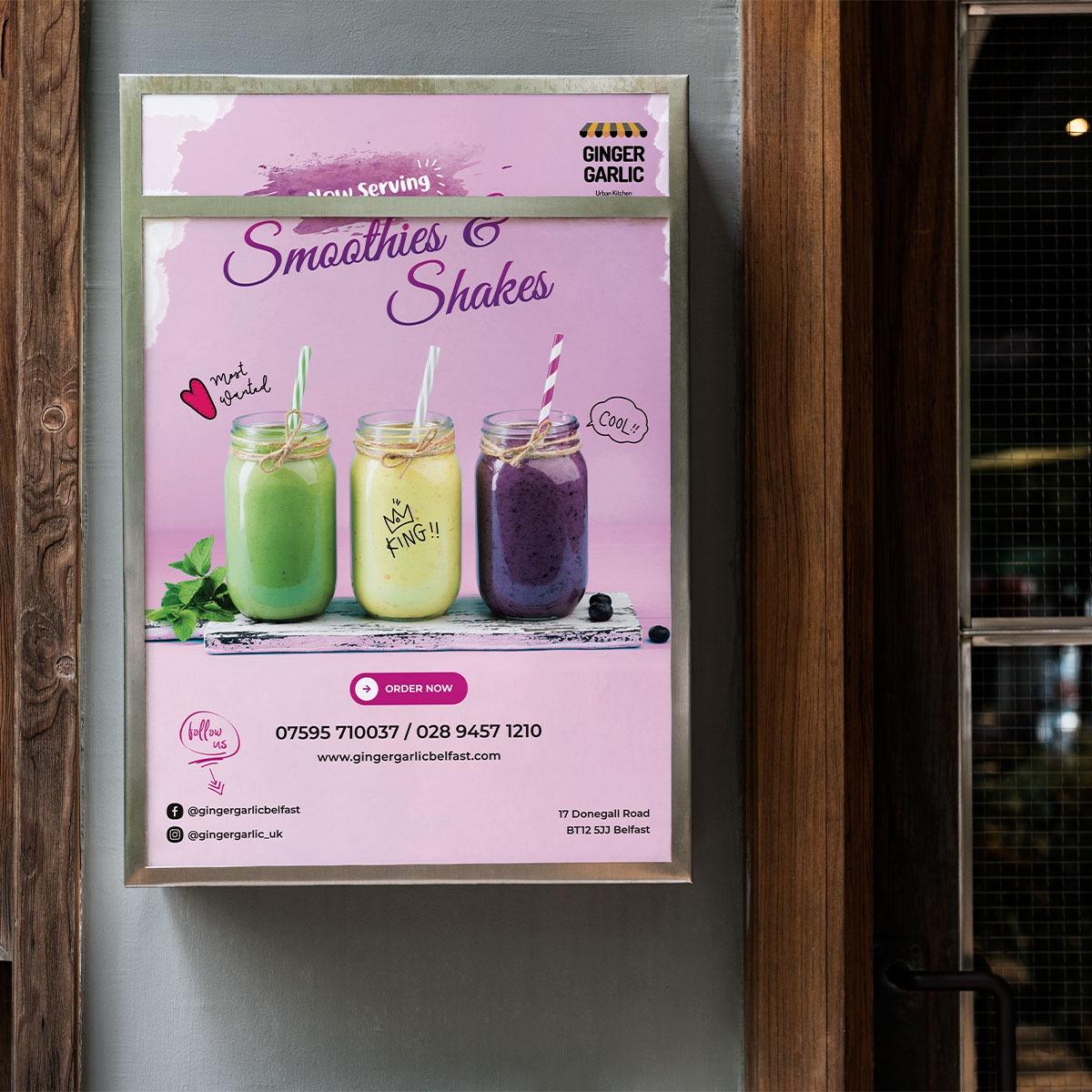 A3 Poster Design for Ginger Garlic Restaurant