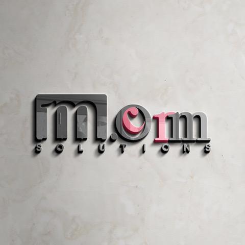 M Comm solution logo design