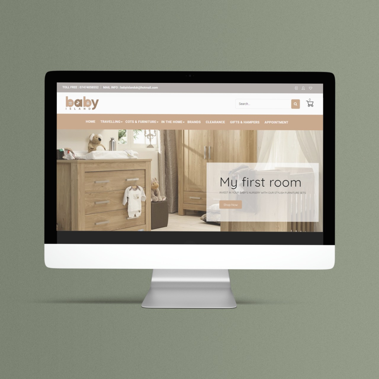 Shopify Website Design and Development for Baby Island Store in London