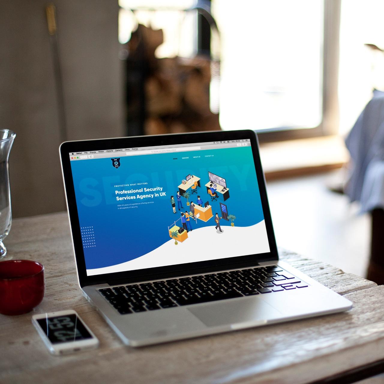 Website Design for DK Security in York, United Kingdom