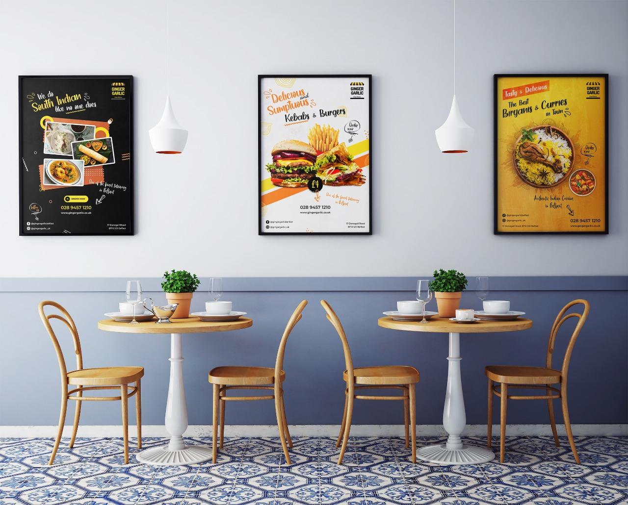 Restaurant Posters Design Services