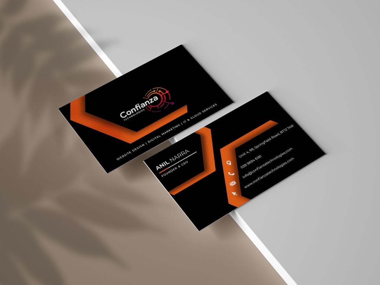 Business Cards Design for Confianza Technologies