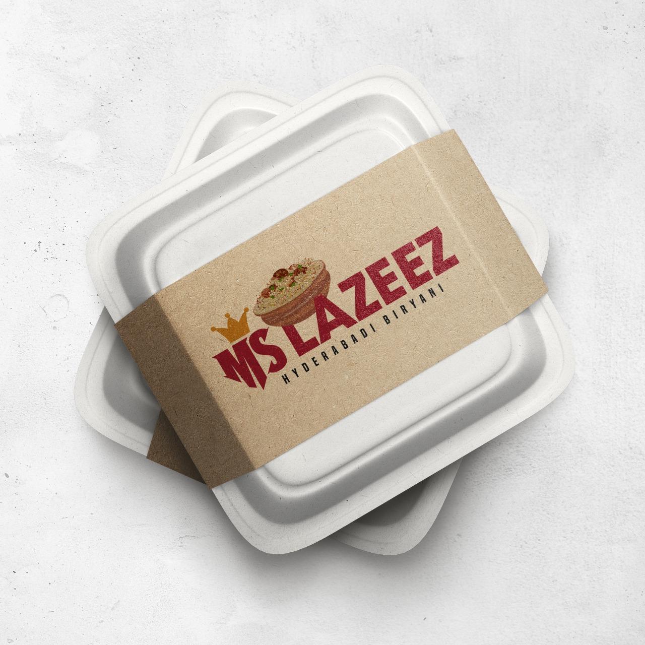 Custom Logo Designing for MS Lazeez Biryani in Northampton