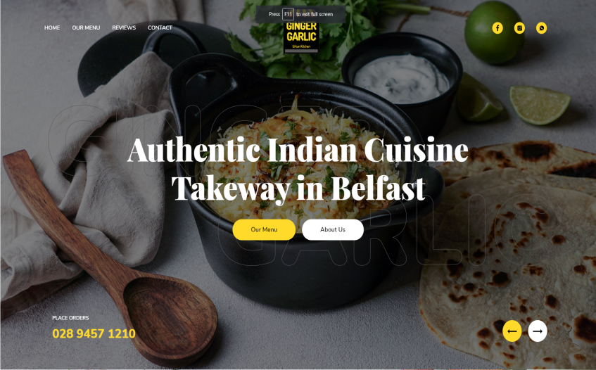 Ginger Garlic - Authentic Indian Takeaway in Belfast